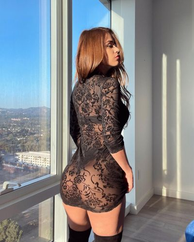 Yanet Garcia Sexy Ass in a See Through Minidress