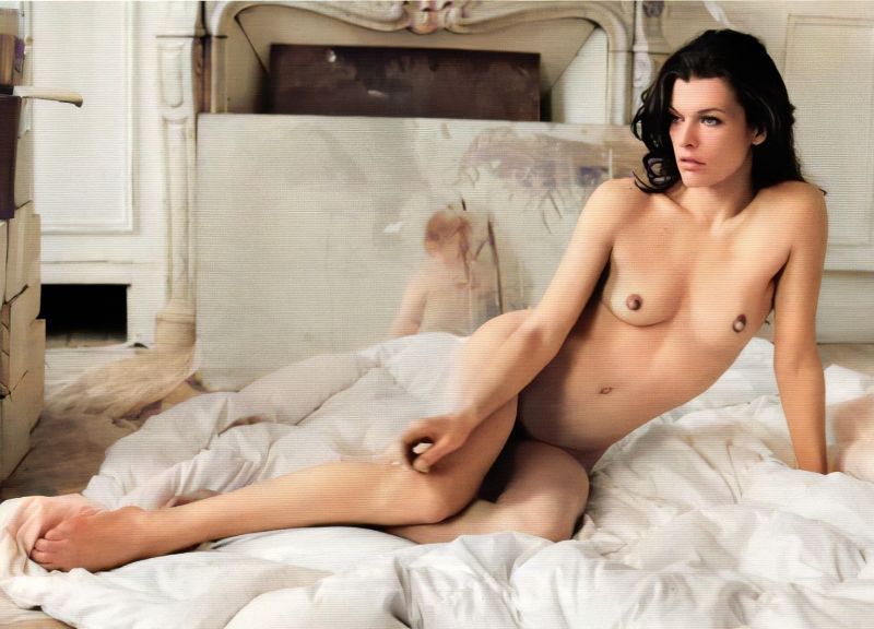 Milla jovovich hot sexy topless photoshoots, hq images